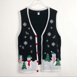 CHRISTMAS Sweater Vest Snowman XL